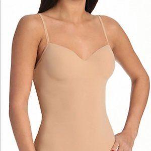 Nude Hanro Allure Camisole 34B Built in Bra Tan